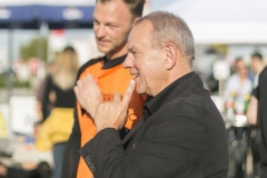 Egbert Holz max.center Wels mit Teamspieler Soccer Connection
